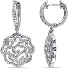 1/4 CT TW DIAMOND STERLING EARRING